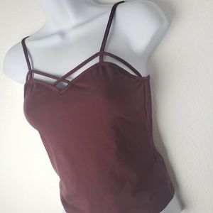 Tops - Fitted Cage Spaghetti Strap Top (Juniors)
